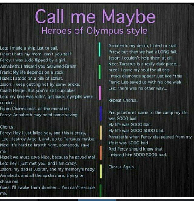 call me maybe 超能英雄 of olympus style