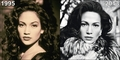 Jennifer Lopez then and now - actresses fan art