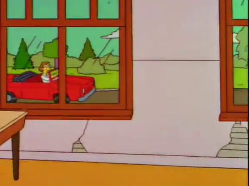 Lisa Simpson 壁紙 with a stained glass window entitled lisa