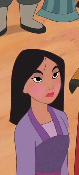 mulan's straight-forward look