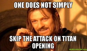 never skip an AOT opening