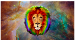 arc en ciel lion