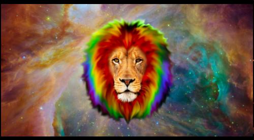 Lions پیپر وال entitled قوس قزح lion