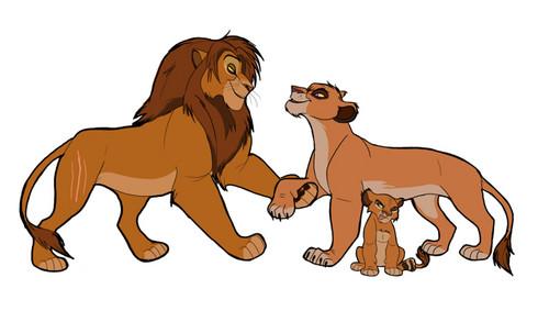 The Lion King 2:Simba's Pride wallpaper containing anime called vitani's family