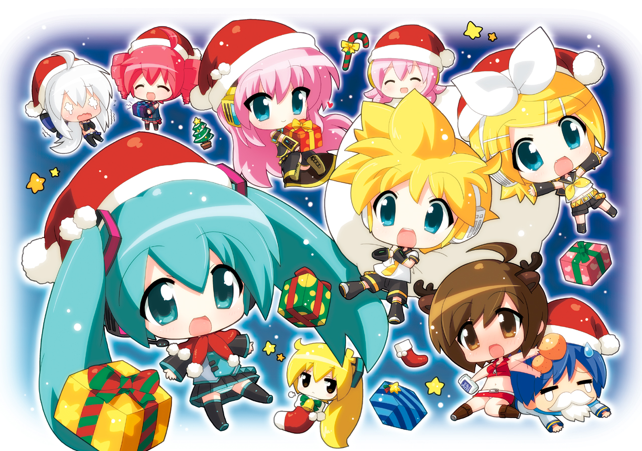 Vocaloid Chibis Images Christmas HD Wallpaper And Background Photos