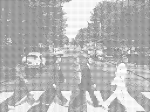 ASCII Drawing from http://larc.unt.edu/ian/art/ascii/shader/hires/ASCII-abbeyroad-gray1024.png