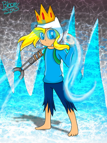 Adventure Time With Finn and Jake wallpaper probably containing anime titled Farmworld Ice Finn