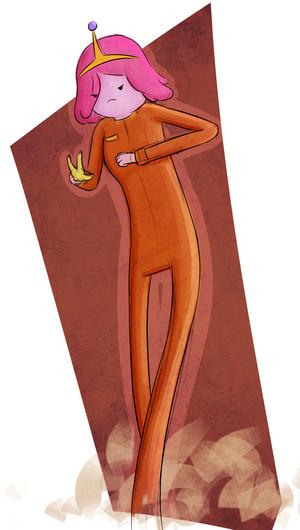 Princess Bubblegum in trái cam, màu da cam