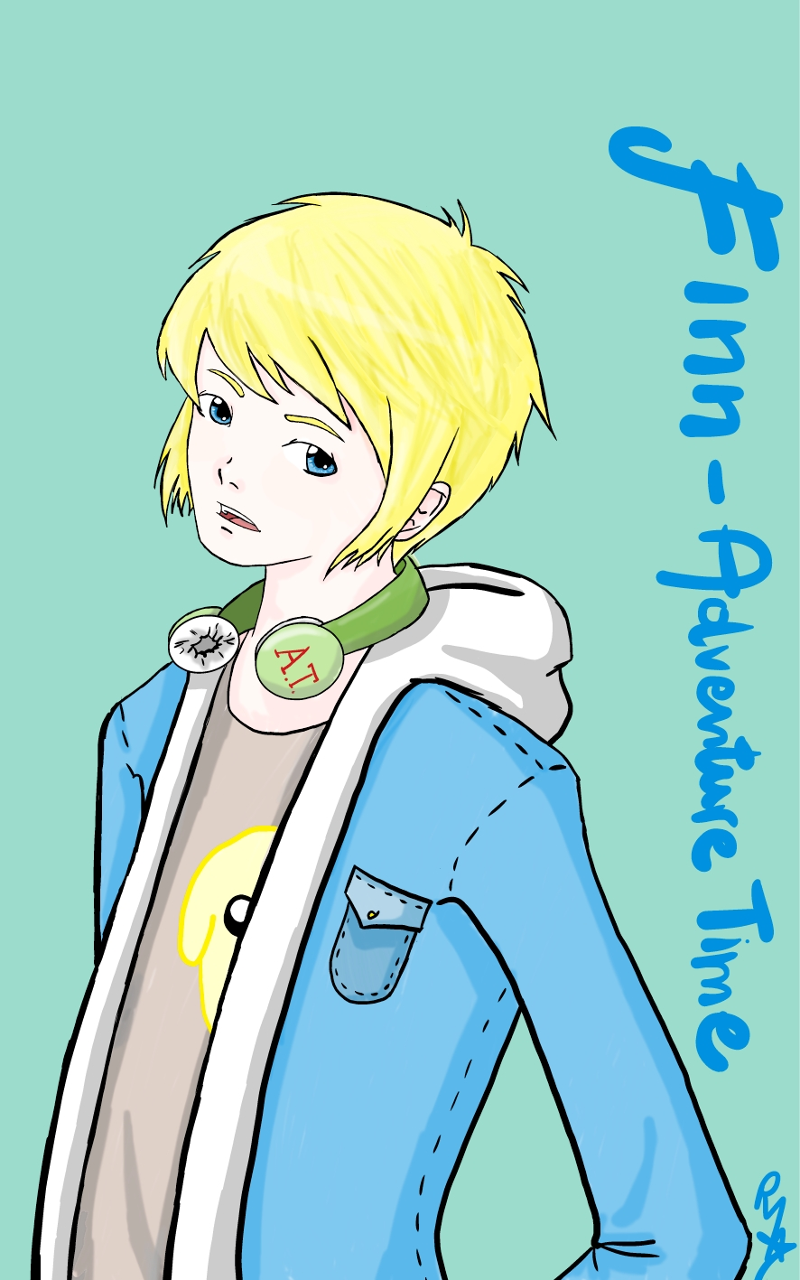 Finn The Human Adventure Time With Finn And Jake Fan Art