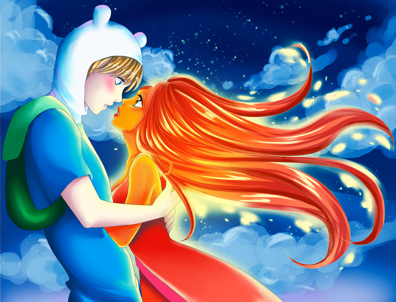Finn and Flame princess - Adventure Time With Finn and Jake Photo    Flame Princess And Finn Kids