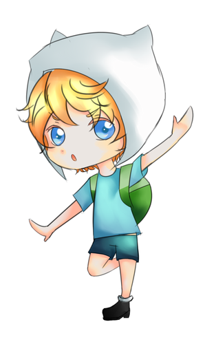 Adventure Time With Finn and Jake wolpeyper titled Chibi Finn