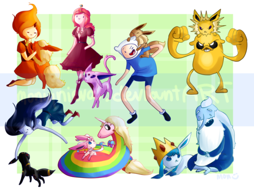 Adventure Time With Finn and Jake wallpaper titled Eevee Time
