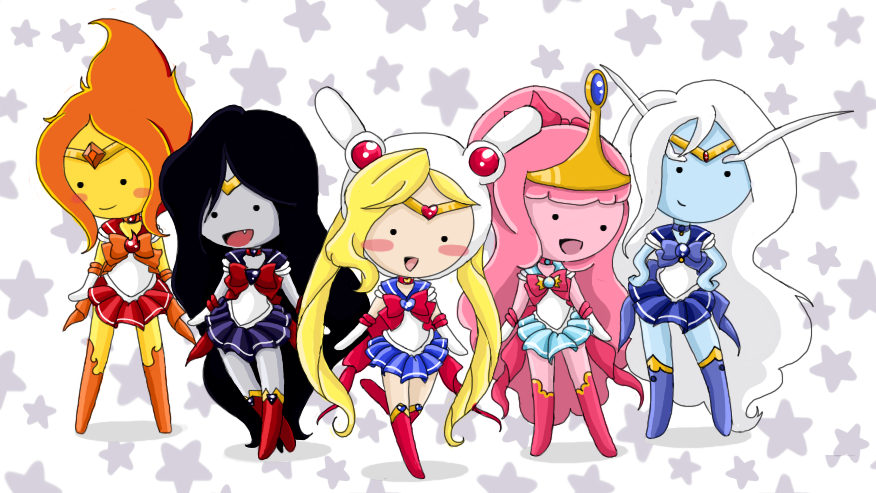 Sailor Moon Crossover Adventure Time With Finn And Jake