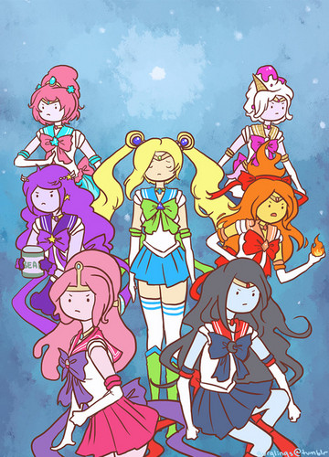 Adventure Time hình nền with anime titled Sailor Adventure Time bởi gurglings