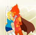 Fionna X Flame Prince - adventure-time-with-finn-and-jake fan art