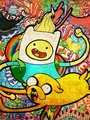 Finn and jake with lady rainicorn