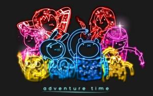 Neon Adventure Time