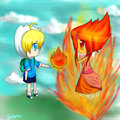 Burning Love  - adventure-time-with-finn-and-jake fan art