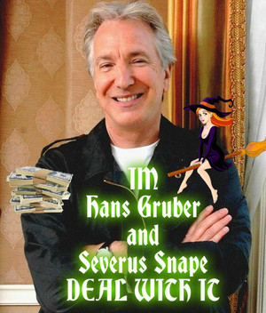 Alan Rickman two charac. DEAL WITH IT Poster