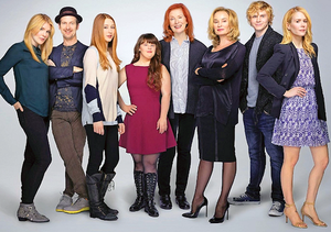 AHS Cast: 2013 Entertainers of the jaar issue of Entertainment Weekly.