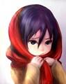 Little Mikasa - anime fan art