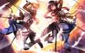 Mikasa and Annie