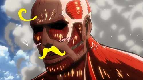 Attack on Titan karatasi la kupamba ukuta called Colosal titan