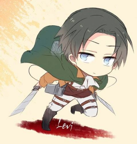 Attack on Titan karatasi la kupamba ukuta with anime entitled Chibi Levi