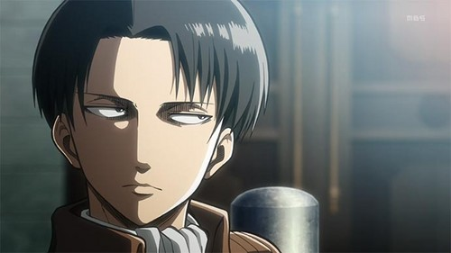 Attack on Titan karatasi la kupamba ukuta entitled Captain Levi