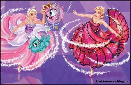 芭比 电影 壁纸 titled Mariposa and The Fairy Princess Book Picture