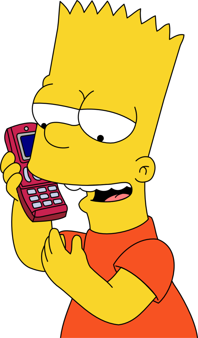 bart simpson images bart simpson hd wallpaper and cell phone clip art images png no cell phone images clip art