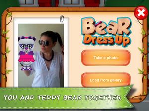 熊 Dress Up - Take a 照片 with your teddy 熊 interface