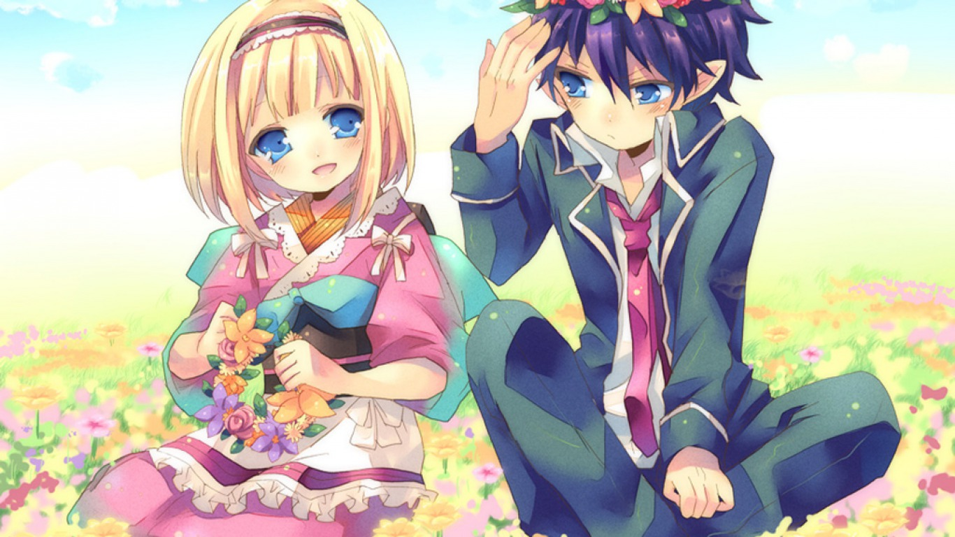 blue exorcist images rin x shiemi hd wallpaper and background photos