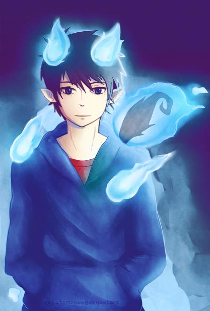 Blue Exorcist Fan Art: Rin | Blue exorcist, Blue exorcist