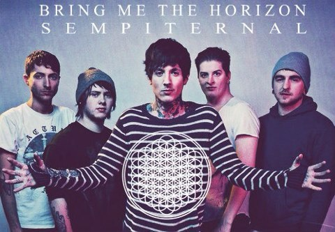 Bring Me The Horizon kertas dinding probably containing a sign and a portrait titled Sempiternal
