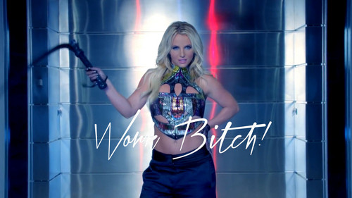 Britney Spears wallpaper possibly with a sign called Britney Spears Work Bitch ! Uncensored