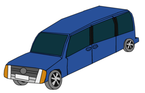 Blue Car furgão, van