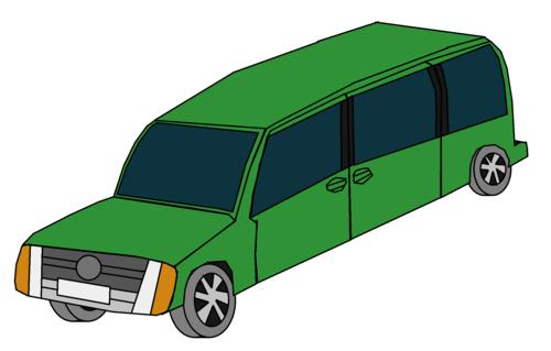 Cars wallpaper entitled Green Car Van