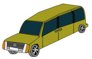 Yellow furgão, van