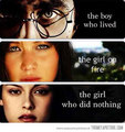 Harry Potter VS Katniss Everdeen VS Bella Swan - catching-fire photo