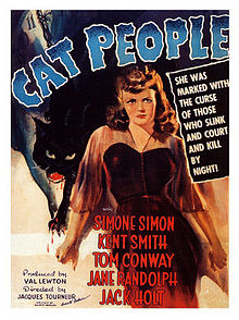 "Movie Poster For The 1942 Horror Film, ""Cat People"""