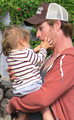 Chris with his daughter,India - chris-hemsworth photo