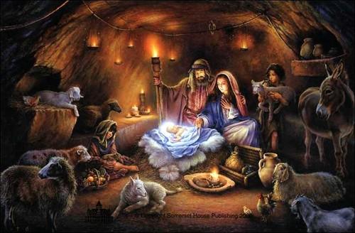 Krismas kertas dinding called Born Krismas