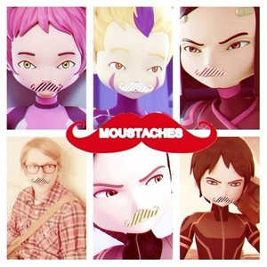 Moustaches on the Lyoko Warriors