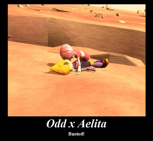 Code Lyoko kertas dinding entitled Odd and Aelita