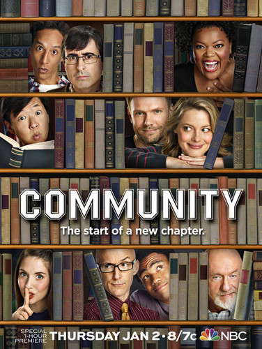 Community wallpaper possibly with anime titled Season 5 promo poster
