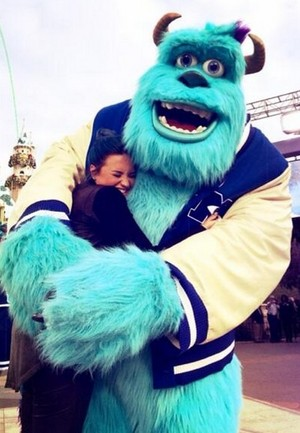 Demi at Disneyland