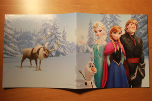 Frozen - Uma Aventura Congelante Soundtrack Deluxe Edition booklet