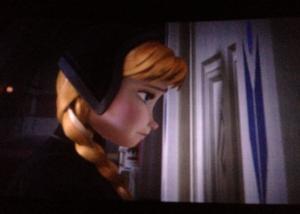 Anna at Elsa's door