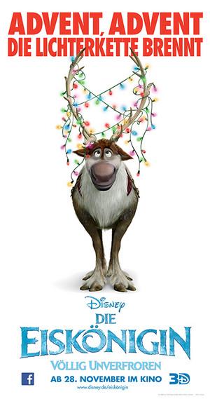 《冰雪奇缘》 German 圣诞节 Poster